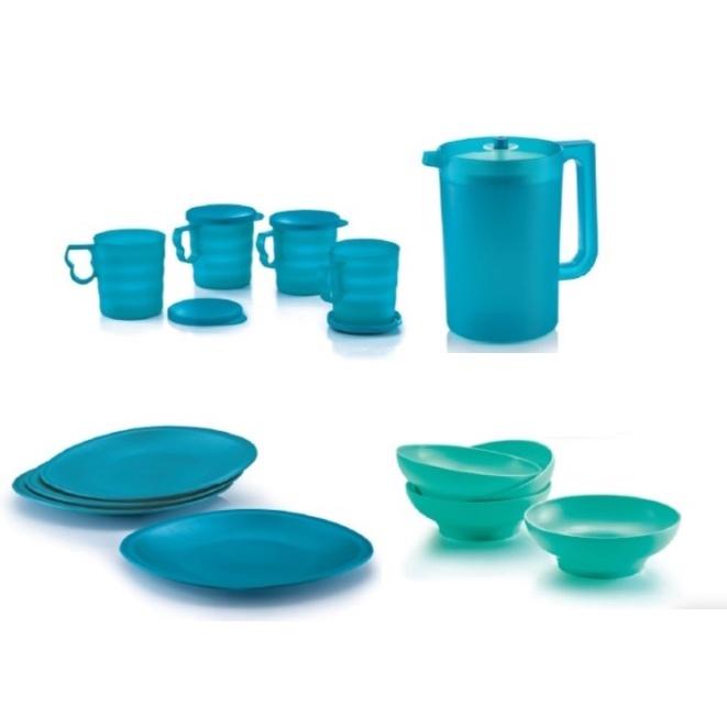 Tupperware Blossom Mugs, Blossom Pitcher, Blossom Plates, Blossom Bowls