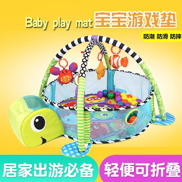 SUPER TOYS BABY ACTIVITY GYM BALL PIT POOL INDOOR SAFE PLAY MATS 1 LION//TORTOISE