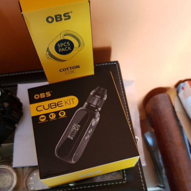 Original OBS Cube VW Kit With Mesh Tank 3000mAh Cube Box MOD LED Screen  Vape Kit