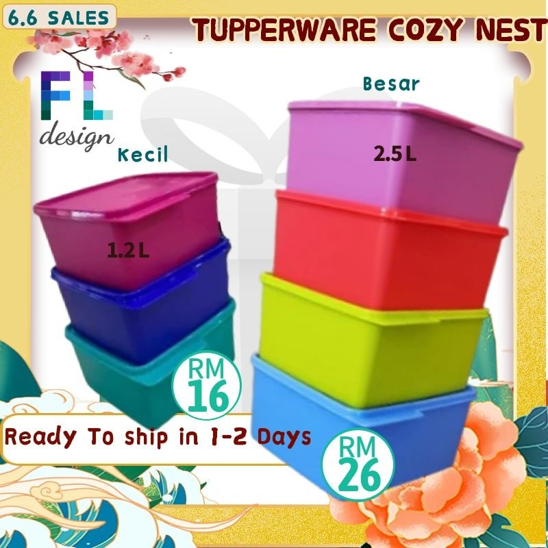 Tupperware Cozy Nest Cake Kids Food Container 1.2L BPA  Free Children Food Container Makanan Ready Stock