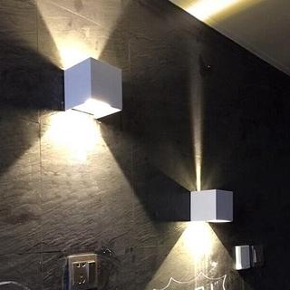 Modern 12W COB LED Waterproof Wall Lamp Cube Adjustable ...
