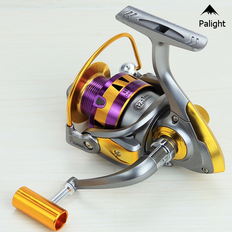 12+1 BB Ball Bearing Metal Handle Left/Right Handed Fishing Spinning Reel HB