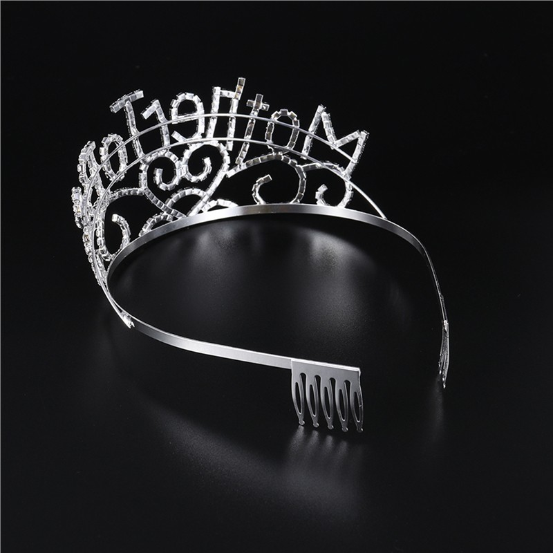 Shiny Mother To Be Baby Shower Tiara Mom Crown Hearts Mom Hair Jewelry