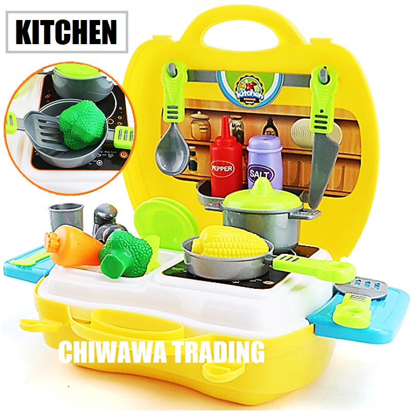 Children Pretend Fun Play Set Early Educational Toys Kitchen Cooking Medical Fashion  with Full Utensils Mainan Kanak