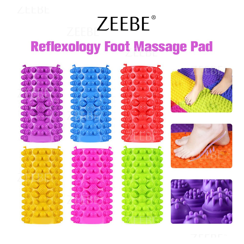 ZEEBE Reflexology Foot Massage Pad Pressure Health (4 Pcs)