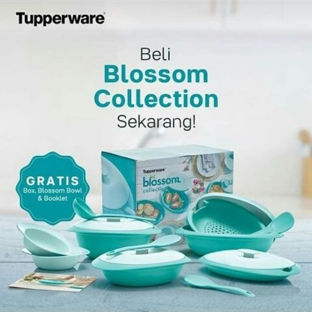 ✨Tupperware Blossom Collection Serving Centre Blue✨
