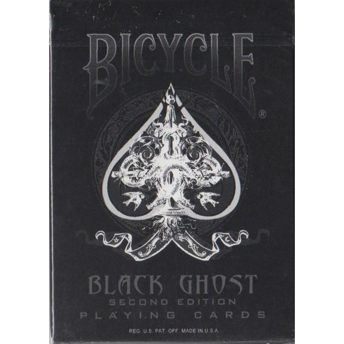 Black Ghost Legacy Bicycle Playing Cards Poker Size Deck USPCC ellusionist New