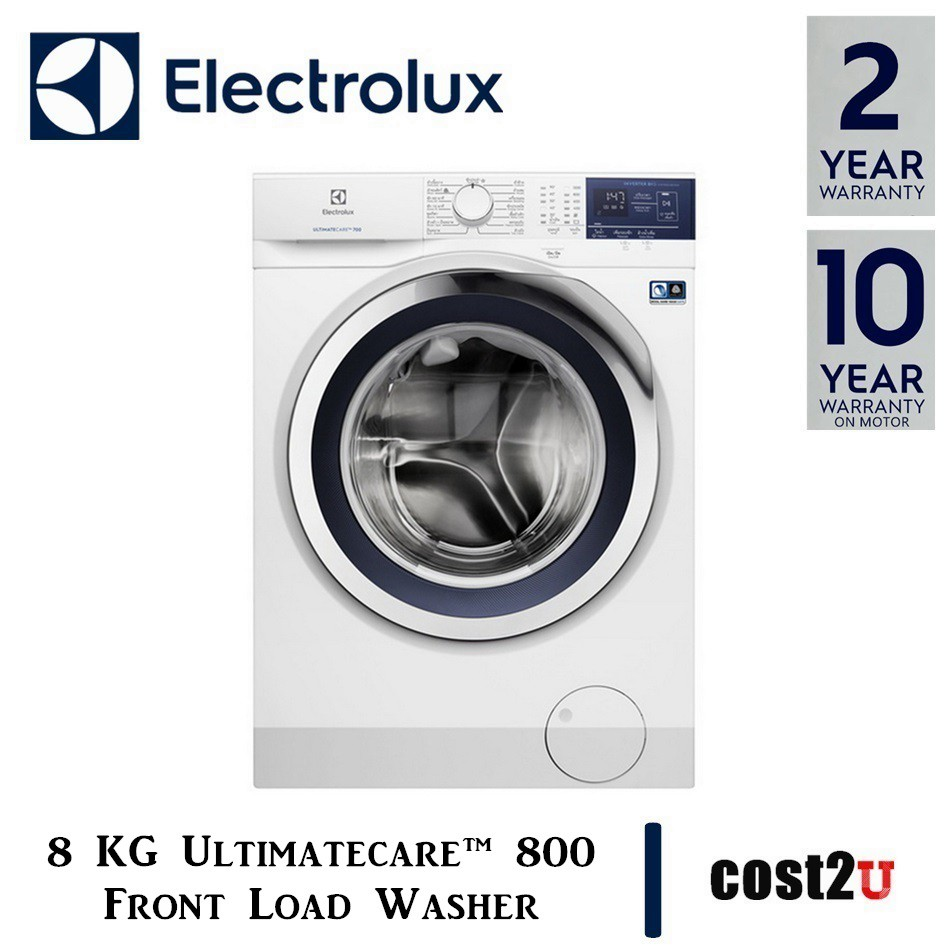 [MODEL 2019] ELECTROLUX 8KG ULTIMATECARE™ 800 FRONT LOAD WASHER WITH VAPOUR CARE | EWF8024BDWA