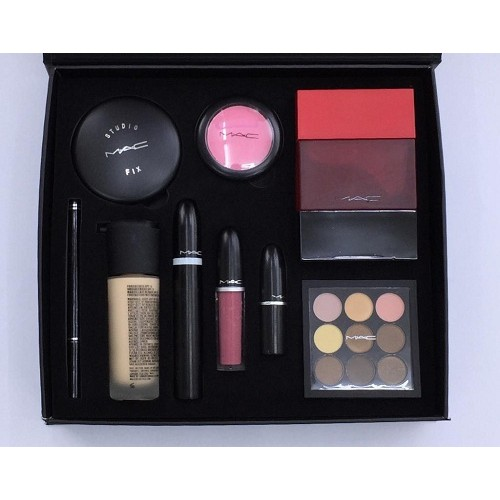 M-a-c Makeup Set for Women 9 in 1 Gift Set