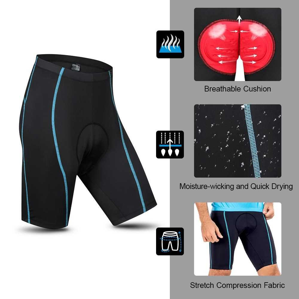 New Men's Sublimation Cycling Shorts Padded Pants Biking Gym Tight Base layer