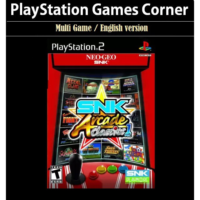 PS2 Game SNK Arcade Classics Volume 1, 16 in 1 Multi Game, English version / PlayStation 2