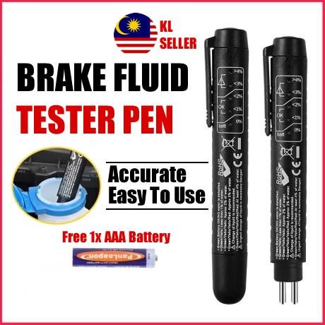 [TOKYO] Brake Fluid Tester Pen For Brake Fluid DOT 3/4/5 Indicator Tester Tool Brake Oil Moisture Tester