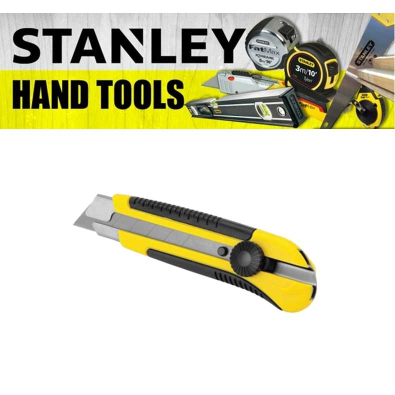 STANLEY 25MM SNAP OFF KNIFE WITH DYNA GRIP 10-425