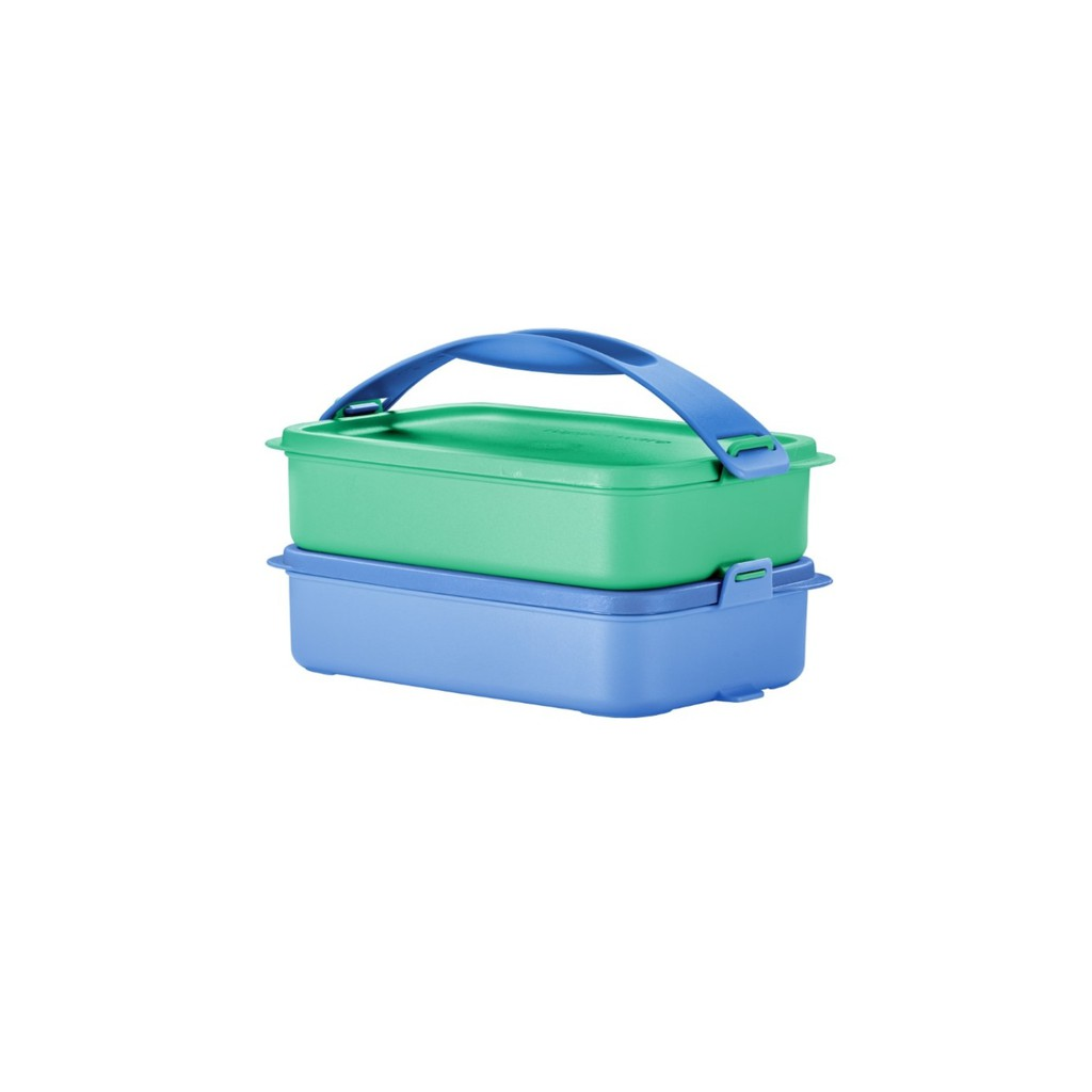Tupperware Click To Go Rect 900ml Lunch Box with Handle
