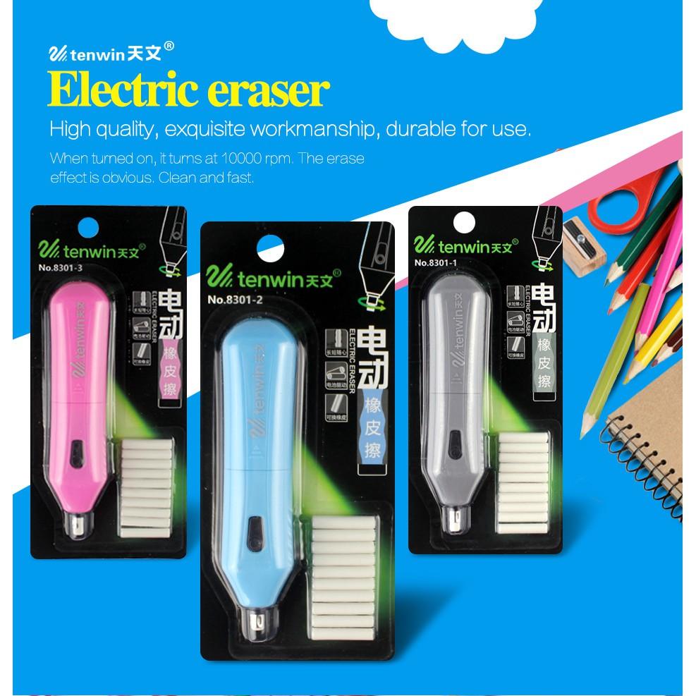Creative TENWIN 8301 Home School Students Electric Eraser Set Automatic Children Electric Eraser School Stationery Supplies