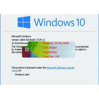 Microsoft Windows 10 Professional OEM English 64-bit - Original COA License  (One PC or Laptop) (Life Time Activation)