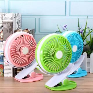 Portable Fan 360 Degree USB Rechargeable Mini Fan With battery Baby Stroller