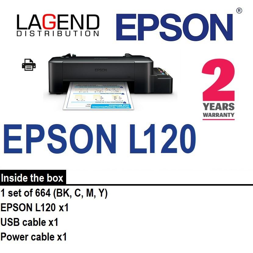 Epson Colour Inkjet L120 With Original Ink Tank Printer (Print Only)   SIMILAR 2135 2676 E410 E470 E510 L3110 T310 T510W