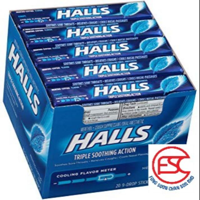Halls Menthol-lyptus Mint Candy 20stick x 34gm