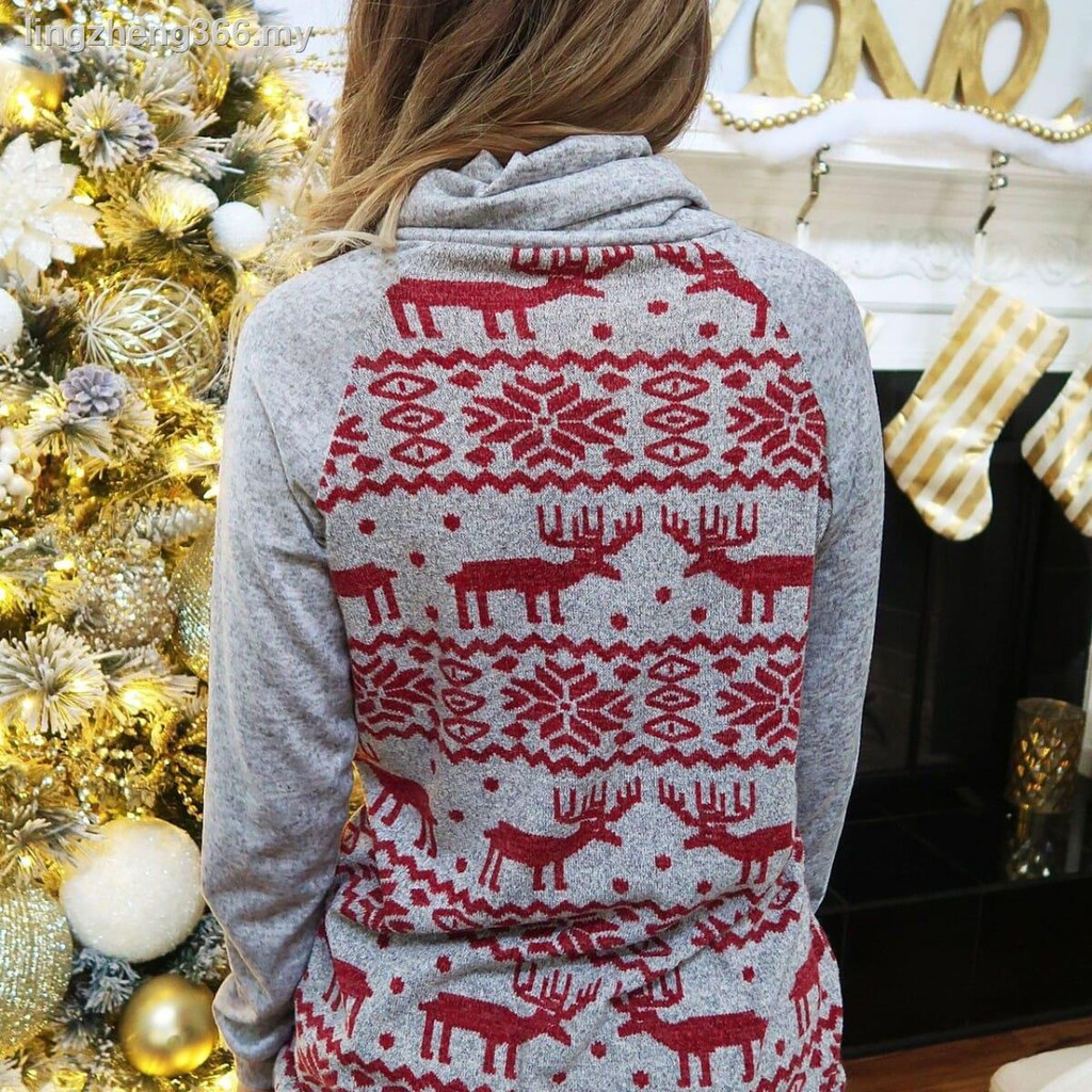 preliked Christmas Sweatshirt Imitated Suit with Long Sleeve Round Neck for Men Women Pullover Top