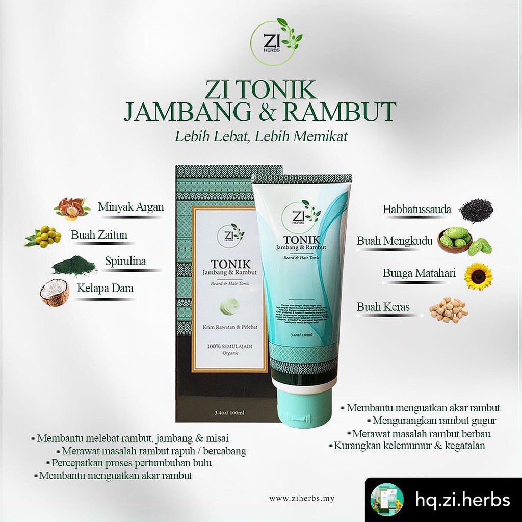 Zi Tonik Jambang Dan Rambut 100 ML Ready Stock
