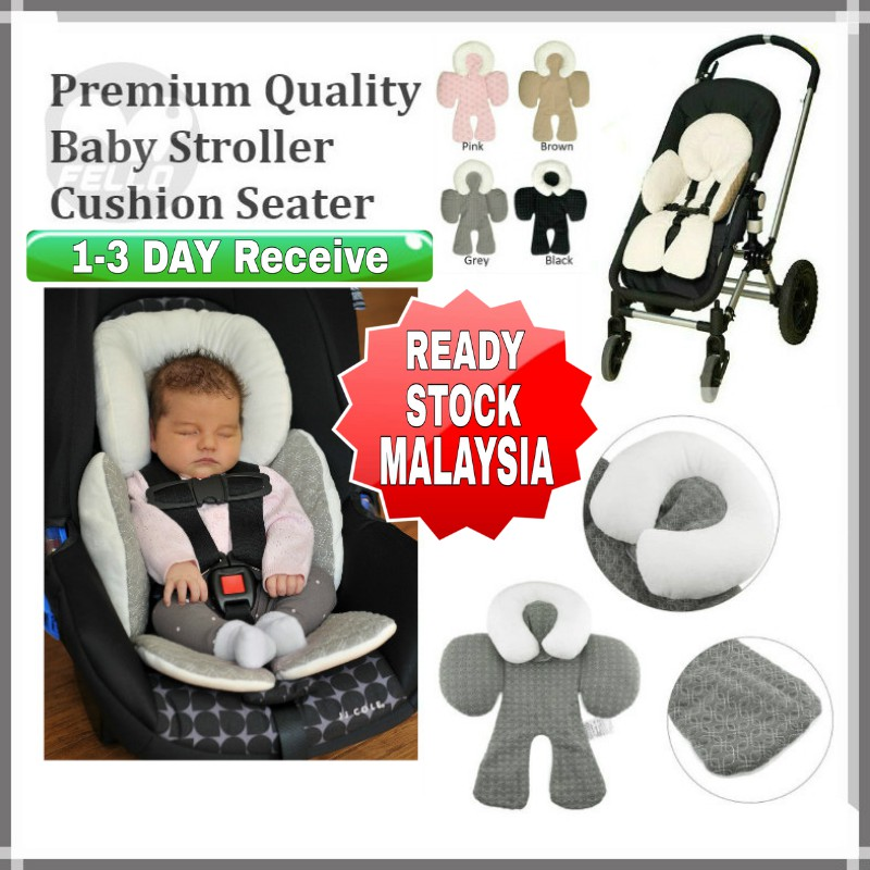 Ready Stock Kl Jj Baby Stroller Protection Pads Head Safe Pillow Seat Cushion