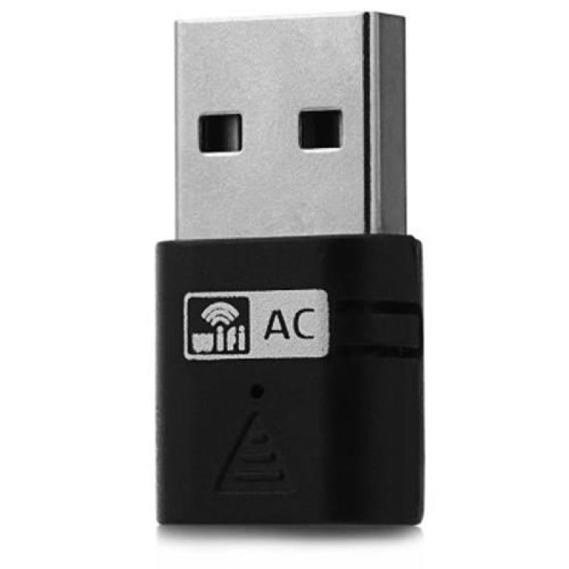 MINI 5GHZ / 2.4G AC600 DUAL BAND FAST USB WI-FI WIRELESS NETWORK ADAPTER SUPPORT 802.11AC (BLACK)