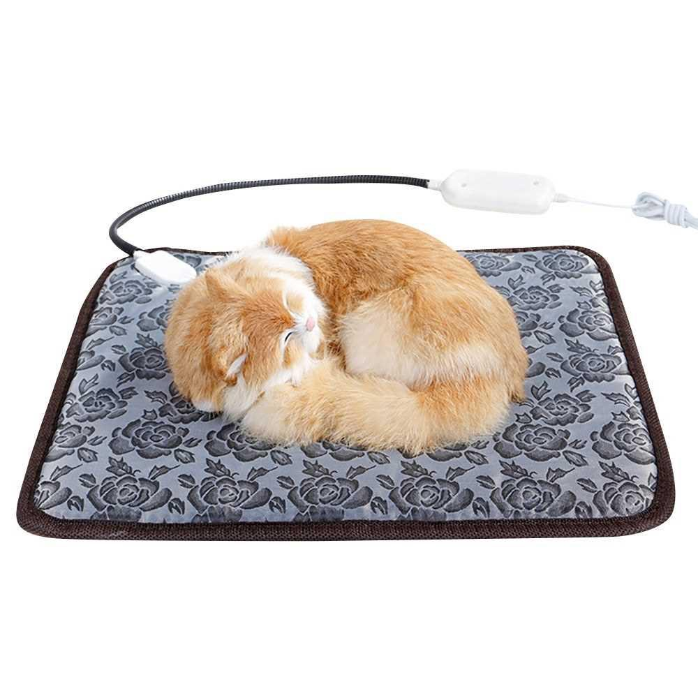 Heating Pad Waterproof Warmer Mat Bed for Dogs Cats Indoor Warming Mat 45*45cm