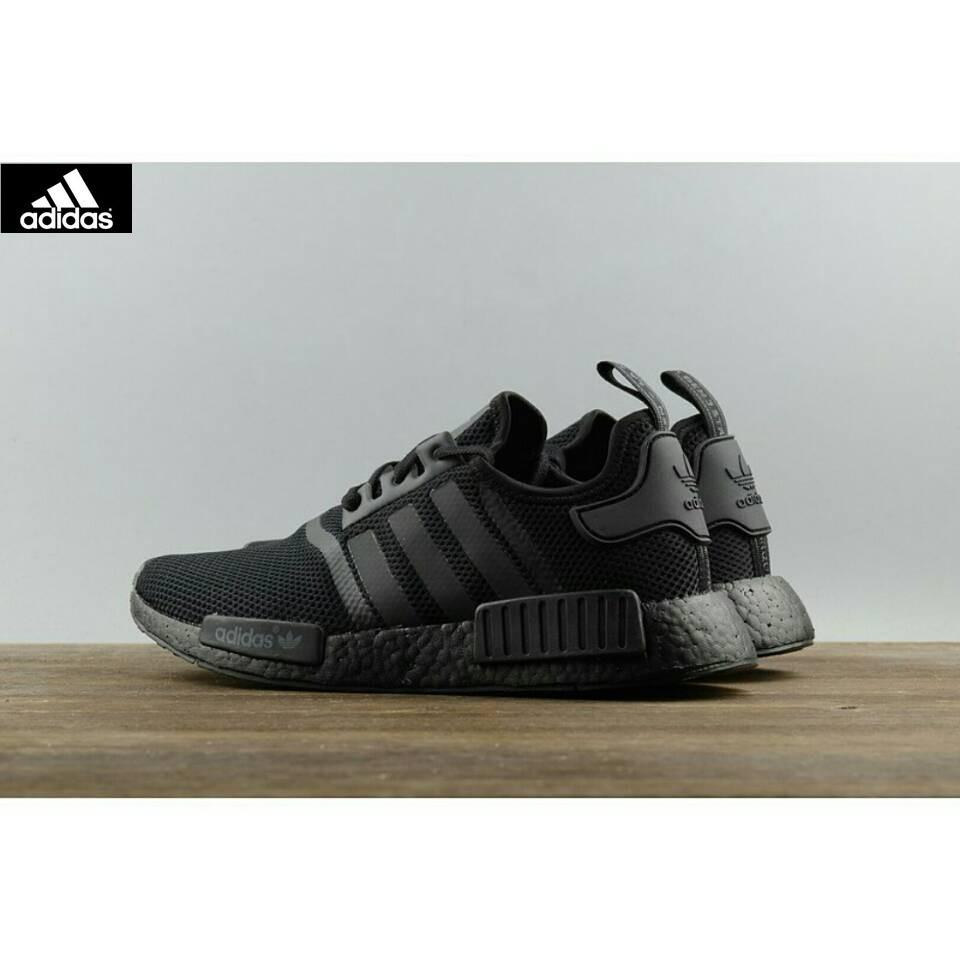 Adidas Fashion brand NEW NMD R1 RUNNING TRIPLE BLACK S31508