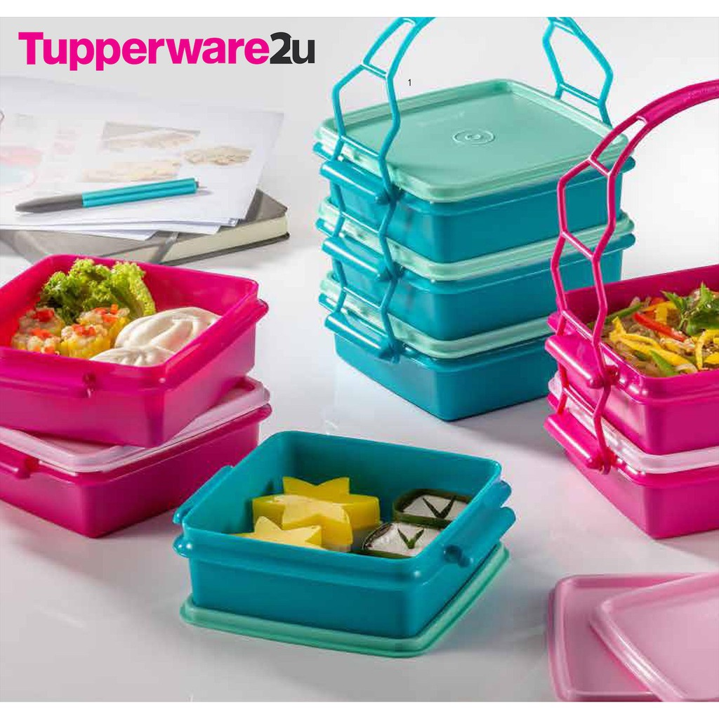 Tupperware Small Goody Box with Cariolier (4) 790ml
