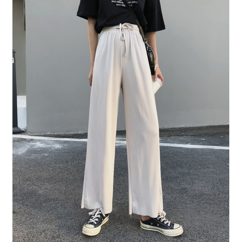 online store various colors new lower prices Wide leg pants female spring and summer linen pants women loose ...