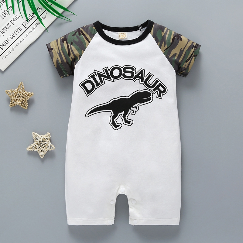 NEW Baby Boys Bodysuit 6-9 Months Dinosaur Blue Creeper Outfit 1 Piece Infant