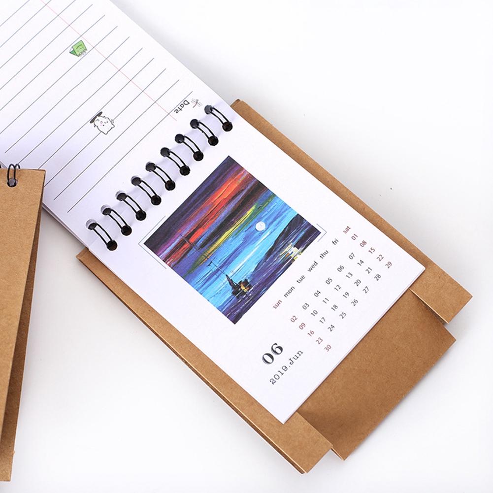 Calendar 2019 Plan Gifts Home Paper Decoration Vertical Multifunction Office Notebook Timetable Kawaii Cartoon Desk Calendar Non-Ironing Office & School Supplies