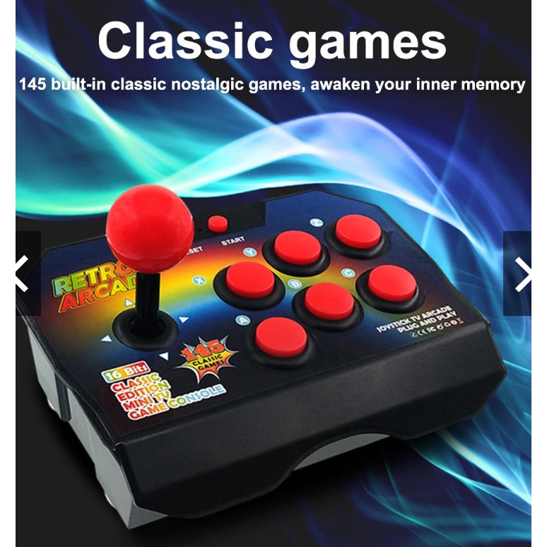 [READY STOCK ] Childhood Classic Retro TV Game Console Mini 145 Games Arcade 16-Bit Built-in Game Remote