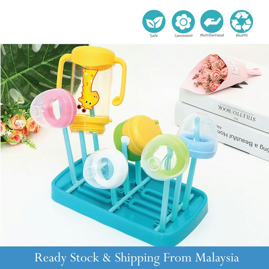 Simple Tree Shape Cleaning Dryer Infant Milk Cup Nipple Bottle Drying Rack Lin