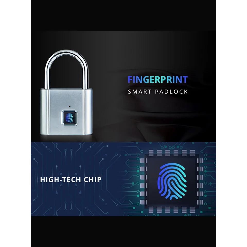 Smart Fingerprint Padlock House Door Gate Cabinet Luggage Garage Security Safety Lock CL185