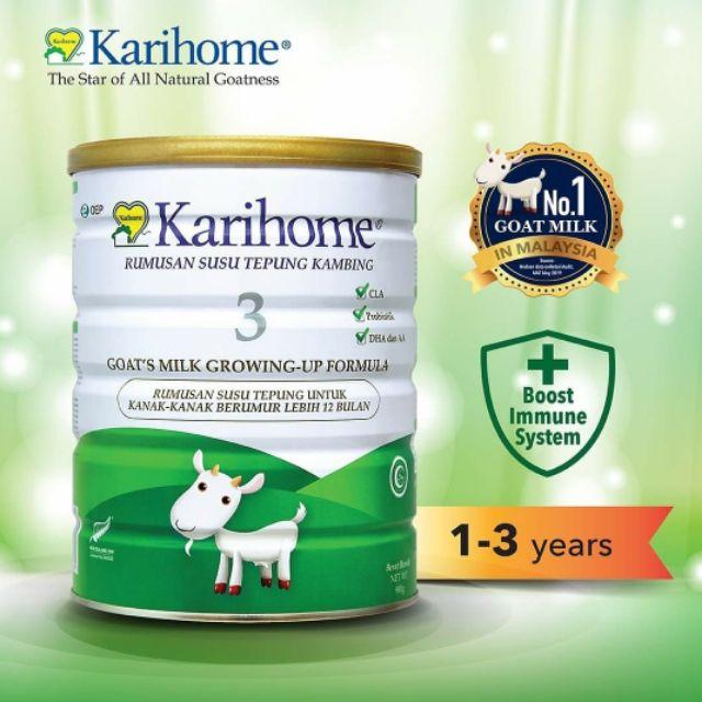 KARIHOME STEP 3 Goat Milk Formula Growing-up Susu Kambing x 1 tin 900g  [READY STOCK]   Shopee Malaysia