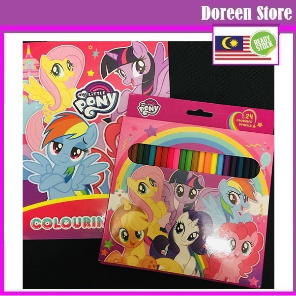 Little Pony 24 Color Pencil (Free Coloring Book)