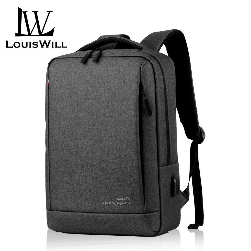 Business Mens Backpack Leisure Travel Sports Outdoor USB Charging Waterproof backpackrucksack-Blue BAG Laptop Backpack