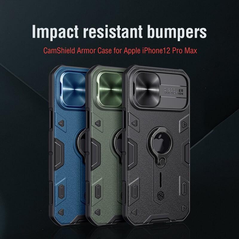 Nillkin Apple iPhone 11/11Pro/11 ProMax/12mini/12/12 Pro/12 Pro Max Armor Camshield Slide Cover Camera Protect Back Case