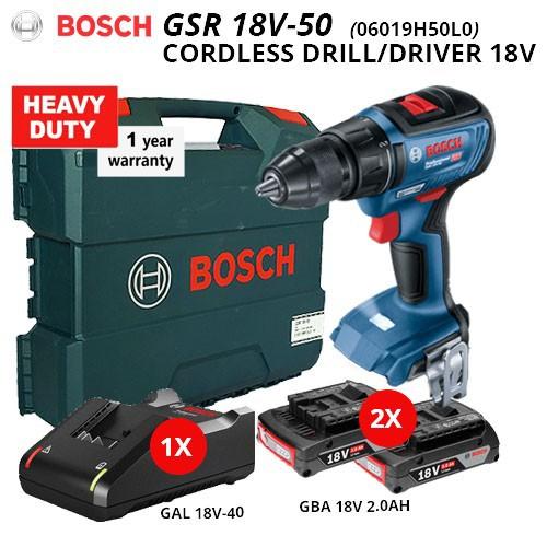 Bosch GSR 18V-50 Cordless Drill/Driver Professional 18V