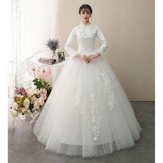 Plus Size S 8xl Women A Line Korean Wedding Dress Gown Gaun