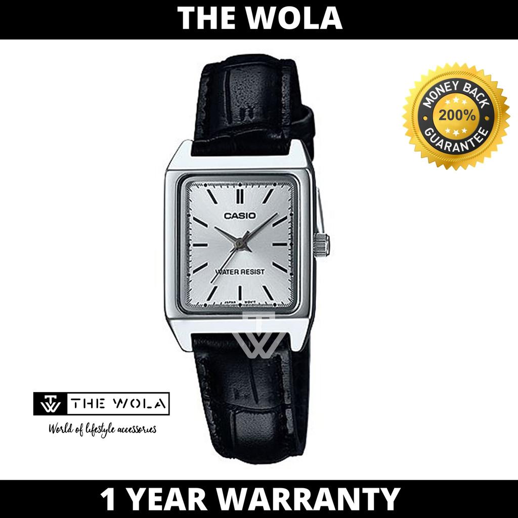 Casio Women's Analog LTP-V007L-7E1UDF Black Leather Watch