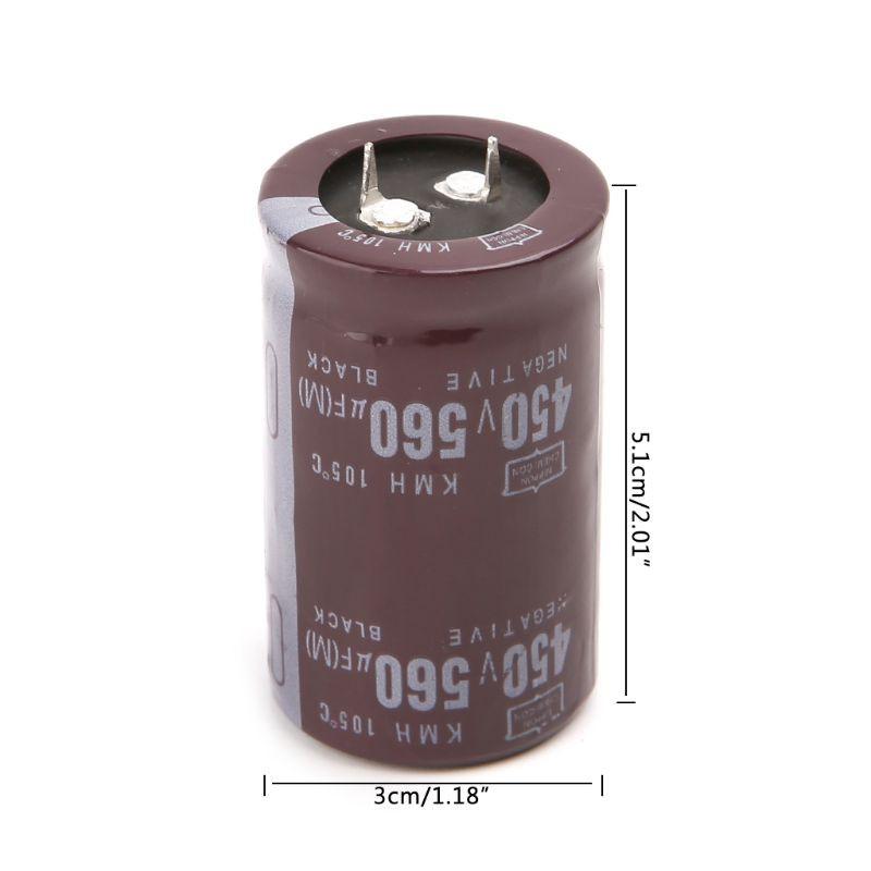450V 220uF 40x25mm Cylindrical Aluminum Electrolytic Capacitor Black