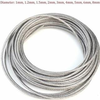 3mm 7x19 Galvanised Steel Wire Rope HARD EYE Sling Strop Fabrication 1 Meter