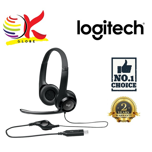 LOGITECH H390 USB COMPUTER HEADSET WITH ENHANCED DIGITAL AUDIO & IN-LINE  CONTROL AND NOISE CANCELLING MIC (981-000014)