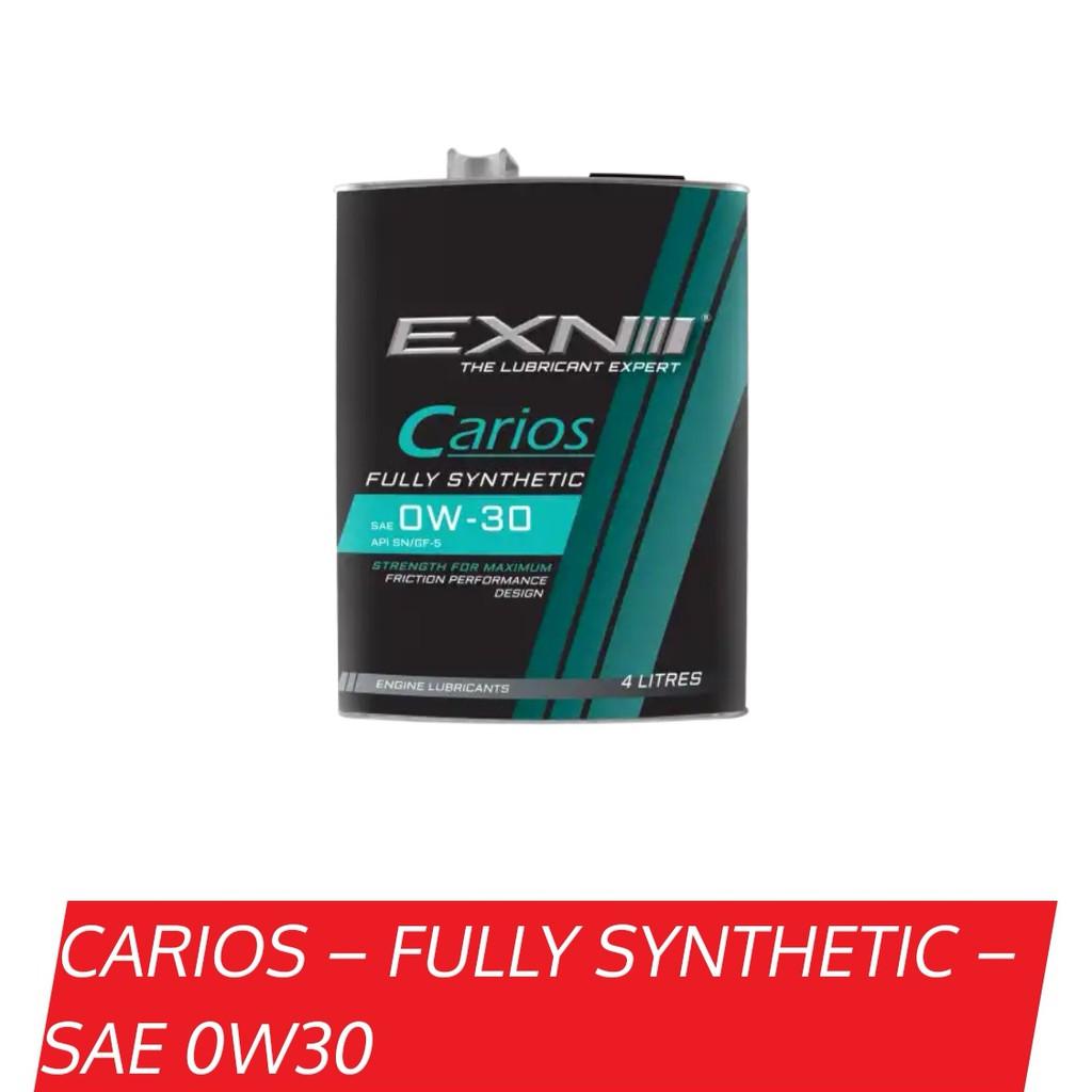 EXN ENGINE OIL CARIOS SAE 0W-30 FULLY SYNTHETIC API SN/GF-5 4L