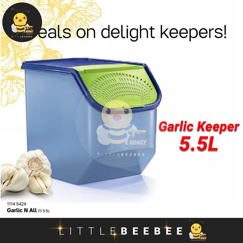 Tupperware Garlic N All (5.5L) / Garlic Keeper (Blue or Red Color)