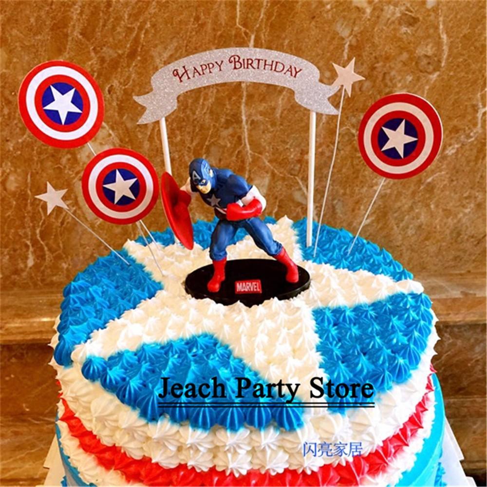 Groovy The Avengers Toys Superhero Cupcake Toppers Baby Kids Birthday Funny Birthday Cards Online Elaedamsfinfo