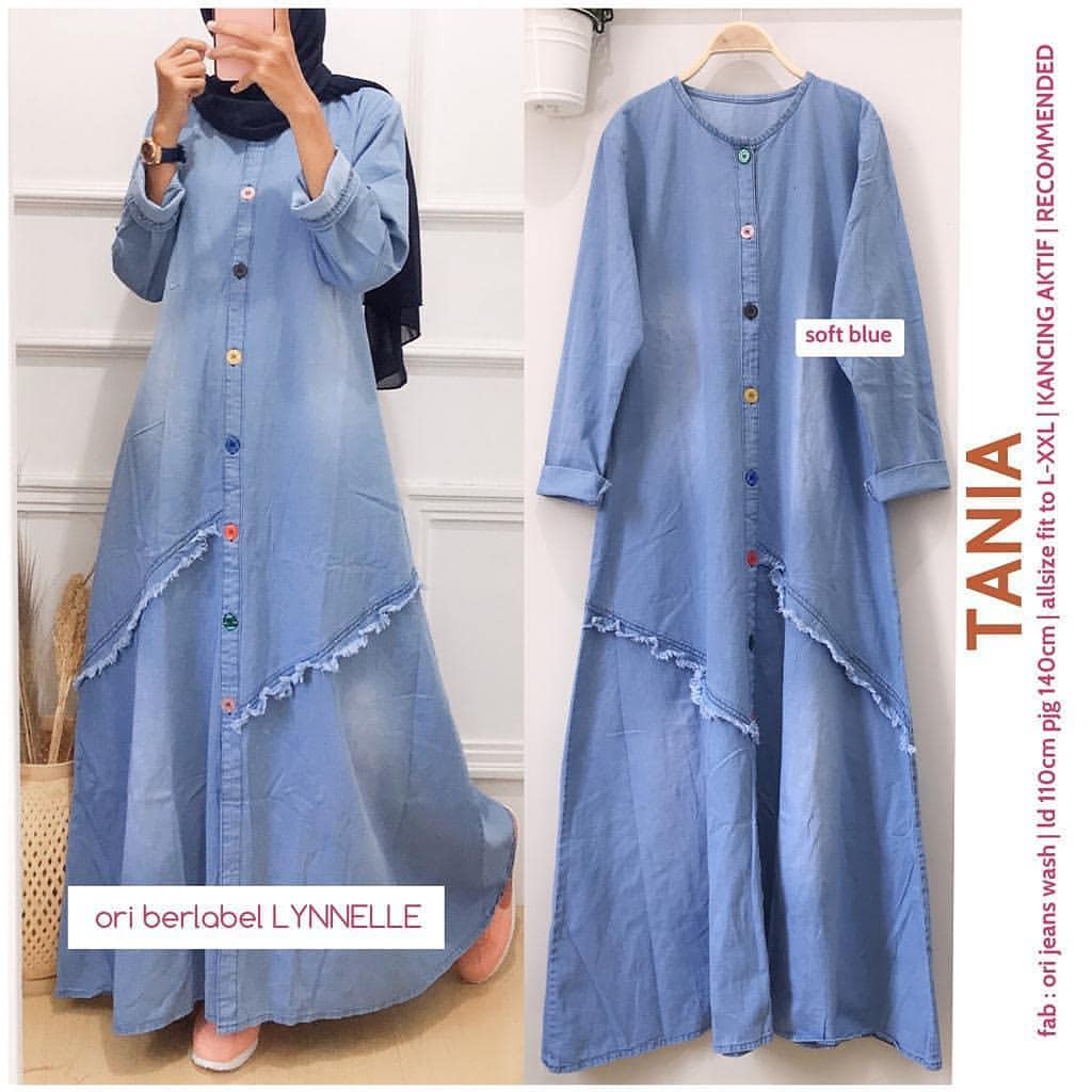 Tania Maxy Jeans Latest Women S Jeans Robe Levis Robe Jeans Dress Muslim Women S Robe Shopee Malaysia